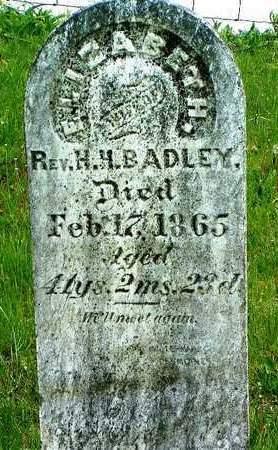 BADLEY, ELIZABETH - Madison County, Iowa   ELIZABETH BADLEY