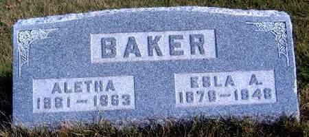 BAKER, ESLA ATHERTON - Madison County, Iowa | ESLA ATHERTON BAKER