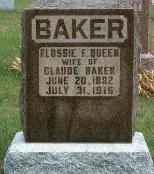 BAKER, FLOSSIE F. - Madison County, Iowa   FLOSSIE F. BAKER
