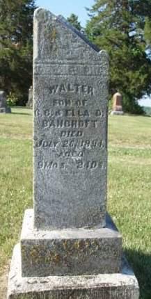 BANCROFT, WALTER - Madison County, Iowa | WALTER BANCROFT