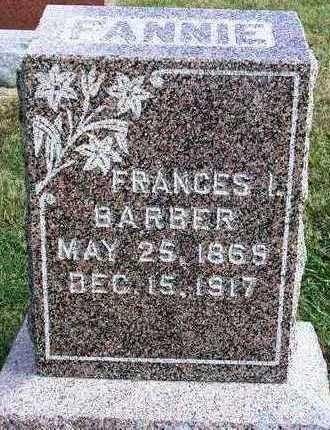 BARBER, FRANCES ISABEL (FANNIE) - Madison County, Iowa | FRANCES ISABEL (FANNIE) BARBER