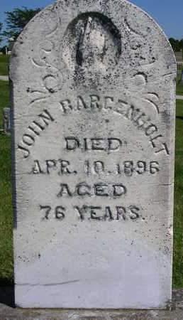 BARGENHOLT, JOHN - Madison County, Iowa | JOHN BARGENHOLT