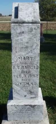 BARGER, MARY V. - Madison County, Iowa | MARY V. BARGER