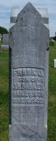 BARKER, FRANK J. - Madison County, Iowa   FRANK J. BARKER