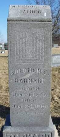 BARNARD, SOLOMON ELISHA - Madison County, Iowa | SOLOMON ELISHA BARNARD