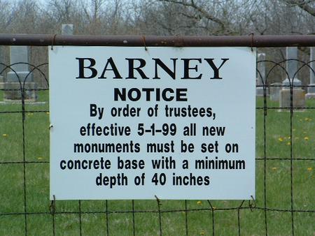 BARNEY, CEMETERY - Madison County, Iowa   CEMETERY BARNEY