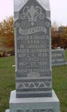 BAUER, JOHN A. - Madison County, Iowa | JOHN A. BAUER