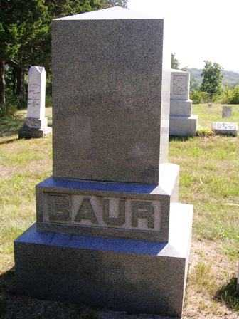 BAUR, FAMILY HEADSTONE - Madison County, Iowa | FAMILY HEADSTONE BAUR