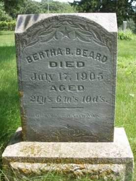BEARD, BERTHA B. - Madison County, Iowa | BERTHA B. BEARD
