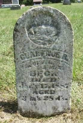 BECK, CLARENCE BLAINE - Madison County, Iowa   CLARENCE BLAINE BECK