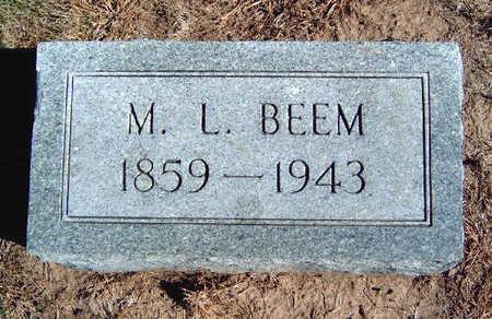 BEEM, MARION L - Madison County, Iowa | MARION L BEEM