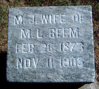 BEEM, MARGARET JANE - Madison County, Iowa | MARGARET JANE BEEM
