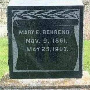 BEHREND, MARY ELIZABETH - Madison County, Iowa | MARY ELIZABETH BEHREND