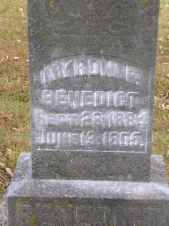 BENEDICT, MYRON F. - Madison County, Iowa   MYRON F. BENEDICT