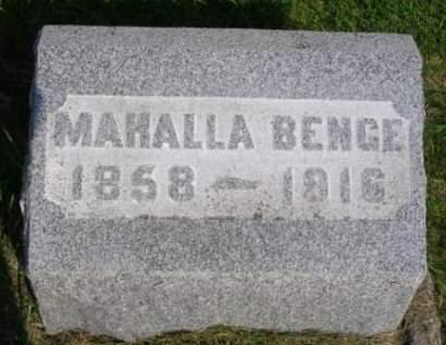 BENGE, MAHALLA - Madison County, Iowa | MAHALLA BENGE