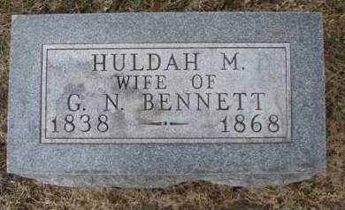 BENNETT, HULDAH M. - Madison County, Iowa | HULDAH M. BENNETT