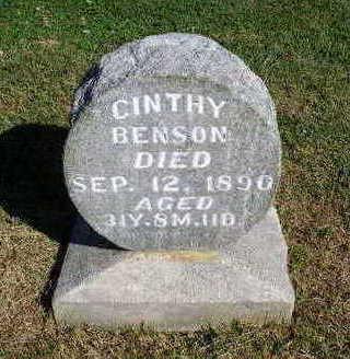 BENSON, CINTHY - Madison County, Iowa | CINTHY BENSON