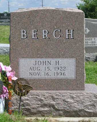 BERCH, JOHN HERMAN - Madison County, Iowa | JOHN HERMAN BERCH