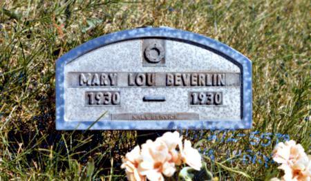 BEVERLIN, MARY LOU - Madison County, Iowa | MARY LOU BEVERLIN