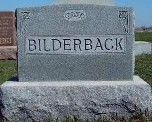 BILDERBACK, FAMILY STONE - Madison County, Iowa | FAMILY STONE BILDERBACK
