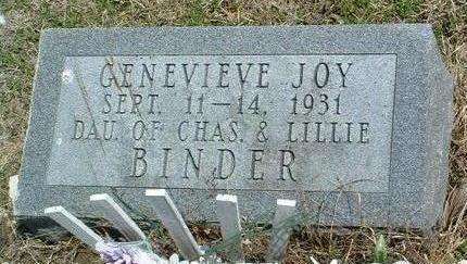 BINDER, GENEVIEVE JOY - Madison County, Iowa | GENEVIEVE JOY BINDER
