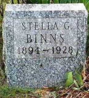 BINNS, STELLA G. - Madison County, Iowa   STELLA G. BINNS