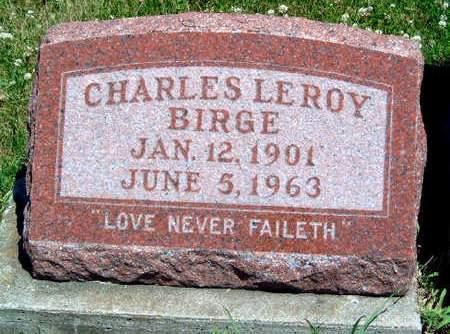 BIRGE, CHARLES LEROY - Madison County, Iowa | CHARLES LEROY BIRGE
