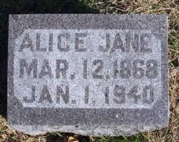 HAYNES BISHOP, ALICE JANE - Madison County, Iowa | ALICE JANE HAYNES BISHOP