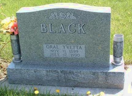 BLACK, ORAL YVETTA - Madison County, Iowa | ORAL YVETTA BLACK