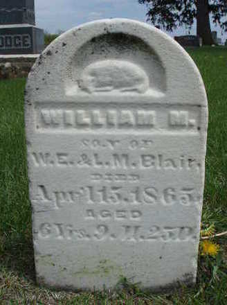 BLAIR, WILLIAM M. - Madison County, Iowa   WILLIAM M. BLAIR