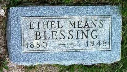 BLESSING, ETHEL EVELYN - Madison County, Iowa | ETHEL EVELYN BLESSING