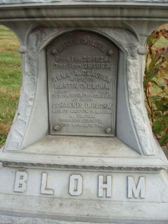 BLOHM, ANNA AGATHA - Madison County, Iowa   ANNA AGATHA BLOHM