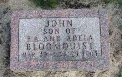 BLOOMQUIST, JOHN - Madison County, Iowa | JOHN BLOOMQUIST