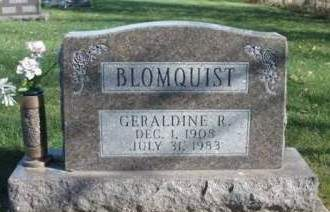 BLOOMQUIST, GERALDINE RUTH - Madison County, Iowa   GERALDINE RUTH BLOOMQUIST