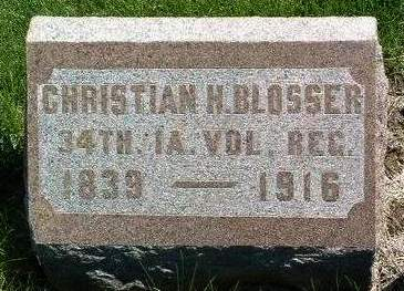 BLOSSER, CHRISTIAN H. - Madison County, Iowa | CHRISTIAN H. BLOSSER