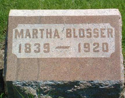 BLOSSER, MARTHA - Madison County, Iowa | MARTHA BLOSSER