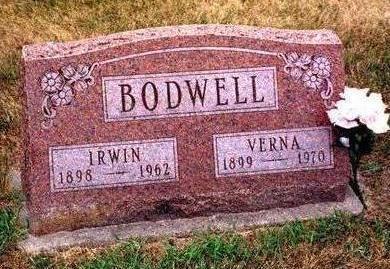 BODWELL, VERNA - Madison County, Iowa | VERNA BODWELL