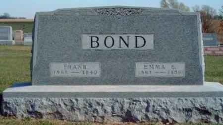 BOND, EMMA S. - Madison County, Iowa   EMMA S. BOND