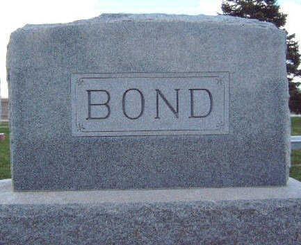 BOND, FAMILY STONE - Madison County, Iowa   FAMILY STONE BOND