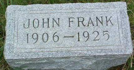 BOND, JOHN FRANK - Madison County, Iowa   JOHN FRANK BOND