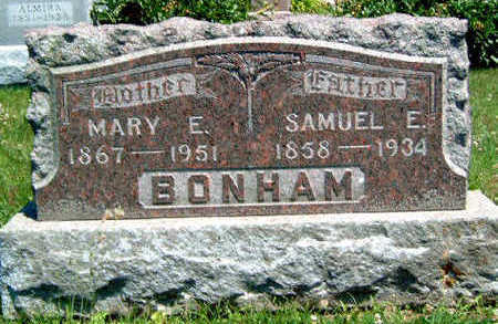 BONHAM, MARY ELIZABETH - Madison County, Iowa | MARY ELIZABETH BONHAM