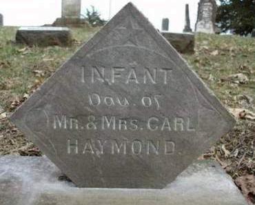 HAYMOND, INFANT - Madison County, Iowa   INFANT HAYMOND