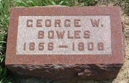 BOWLES, GEORGE W. - Madison County, Iowa | GEORGE W. BOWLES