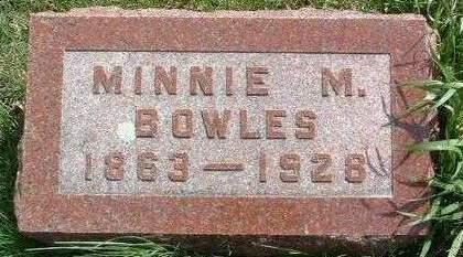 BOWLES, MINNIE M. - Madison County, Iowa | MINNIE M. BOWLES