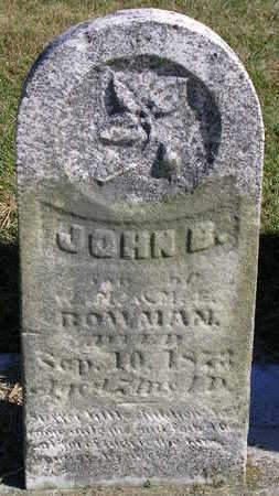 BOWMAN, JOHN B. - Madison County, Iowa | JOHN B. BOWMAN