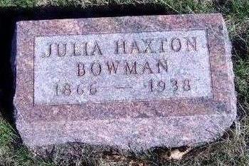 BOWMAN, JULIA E. - Madison County, Iowa | JULIA E. BOWMAN