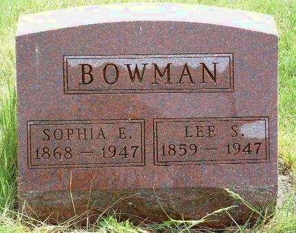 BOWMAN, SOPHIA ELLEN - Madison County, Iowa   SOPHIA ELLEN BOWMAN