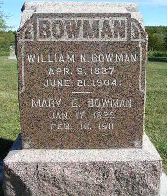 BOWMAN, MARY EDNA / ELIZABETH - Madison County, Iowa | MARY EDNA / ELIZABETH BOWMAN