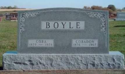 BOYLE, CORA LUCETTA - Madison County, Iowa | CORA LUCETTA BOYLE