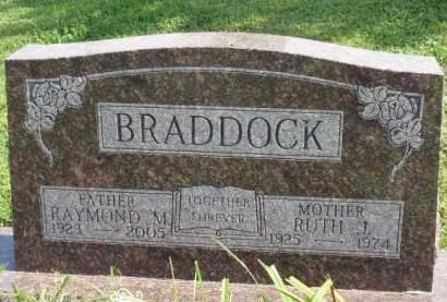 BRADDOCK, RUTH JOSEPHINE - Madison County, Iowa | RUTH JOSEPHINE BRADDOCK